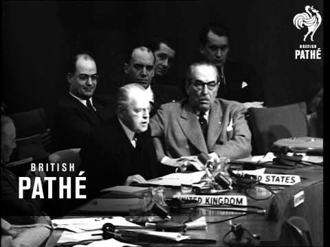 U.N.O.. Meeting On Czechoslovakia And Palestine AKA UN Meeting Over Czechoslovakia (1948)