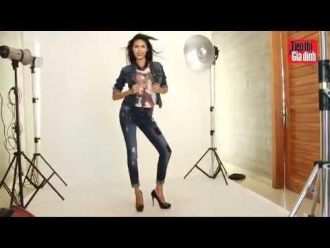Siêu mẫu Lan Khuê trẻ trung tại hậu trường chụp ảnh bìa TT&GĐ 15/2014