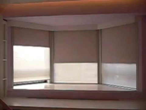 6 motorized roller blinds install in a bay window with. Black Bedroom Furniture Sets. Home Design Ideas
