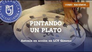 Como se pinta un plato de Cerámica