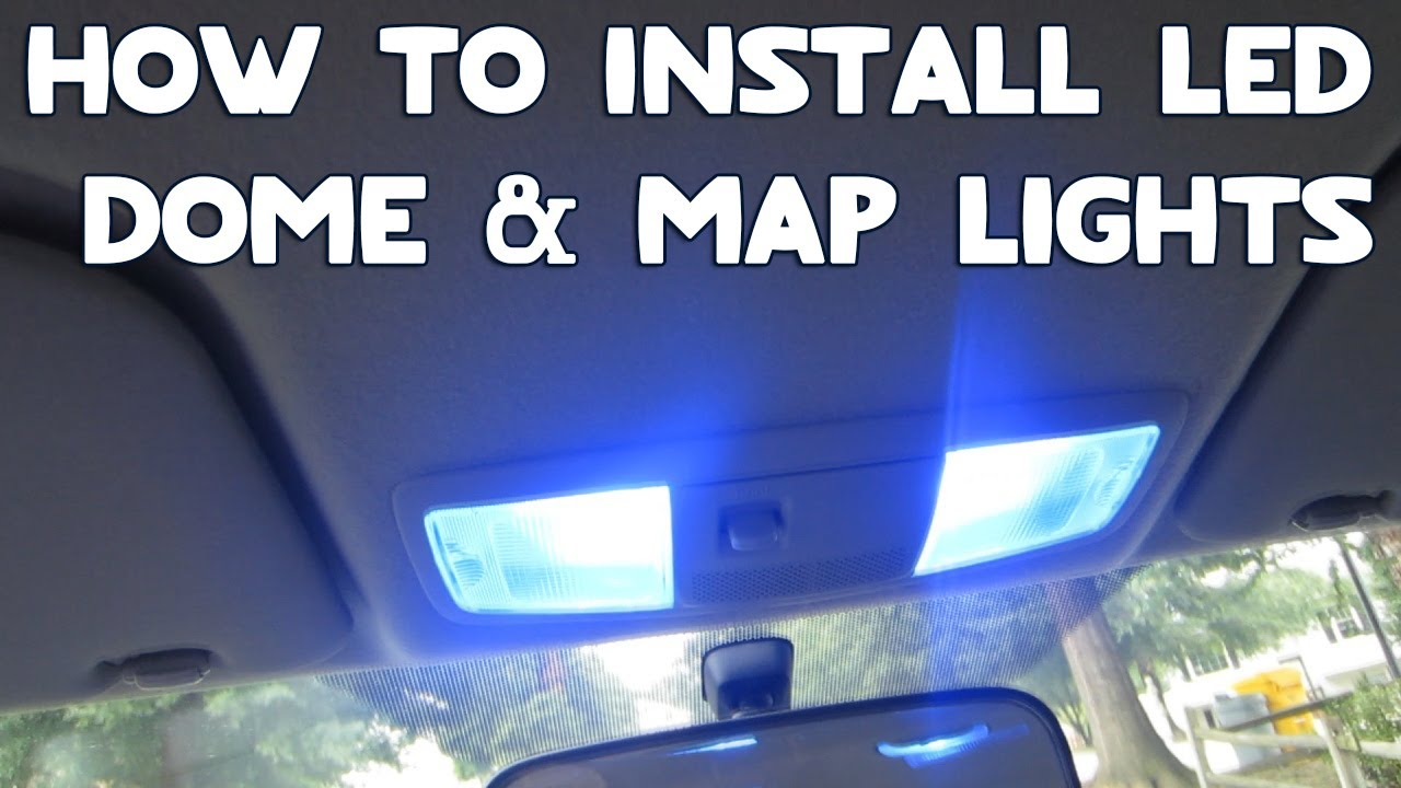 install led dome map lights   car youtube