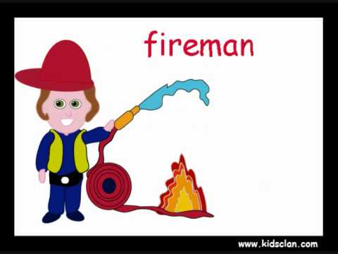 Professions. English Flashcards for children. KIDSCLAN.COM