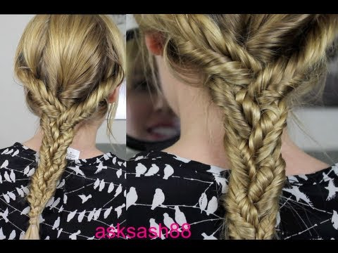 Triple Fishtail Braid - Easy Everyday hairstyles for Long Hair, School Hairstyles