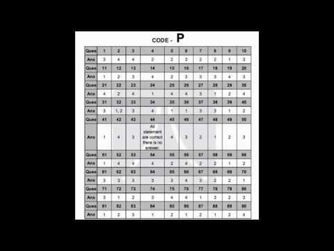 JEE mains 2014 answer key (Answer sheet 2014)
