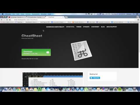 Keyboard Shortcuts on Mac OS X Cheatsheet App