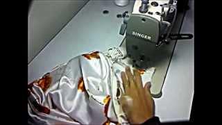 cara jahit zip dan pinggang kain baju kurung