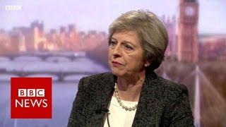 Theresa May 'won't be afraid' to challenge Donald Trump - BBC News