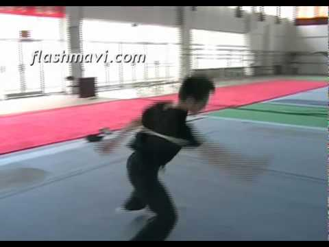The Wushu Butterfly Twist with a Long Weapon - Staff / Spear