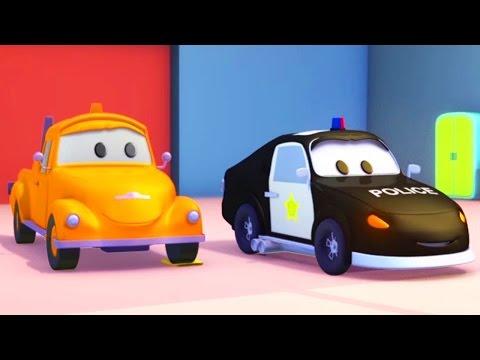 Policajné auto a odťahovák