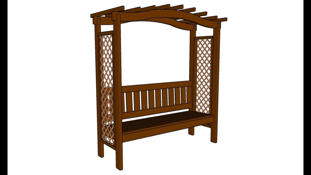 How To Build An Arbor Bench Youtube