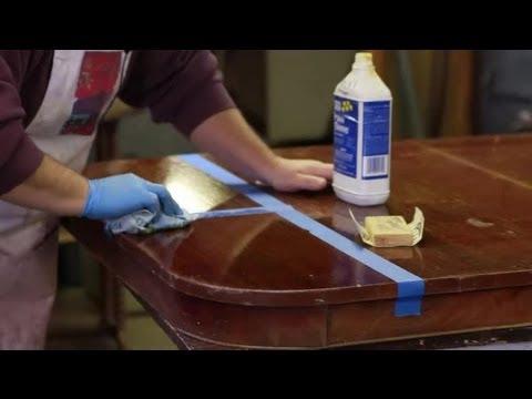 How To Repair A Polyurethane Wood Finish Furniture Repair Tips Youtube