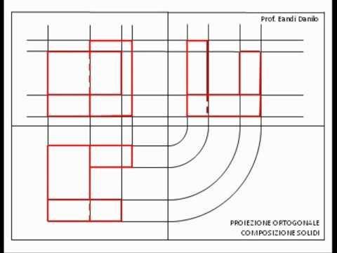 Proiezione ortogonale composizione di solidi 1 - YouTube