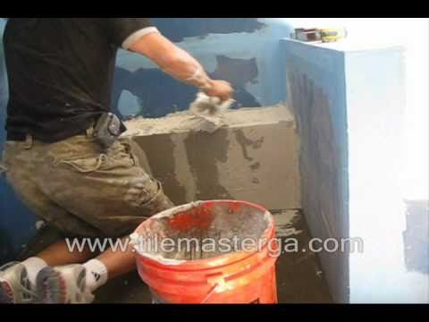 Part 2 How To Build Waterproof Shower Bench Seat Installation From Scratch Cement