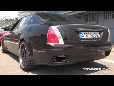 Modified Maserati Quattroporte Awesome Sound!