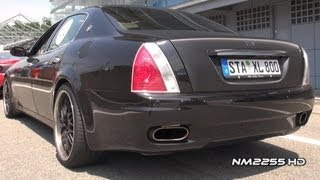 Maserati Quattroporte With Modified Exhaust videos