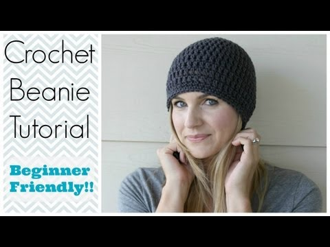 How to Crochet a Beanie Tutorial - Beginner Friendly