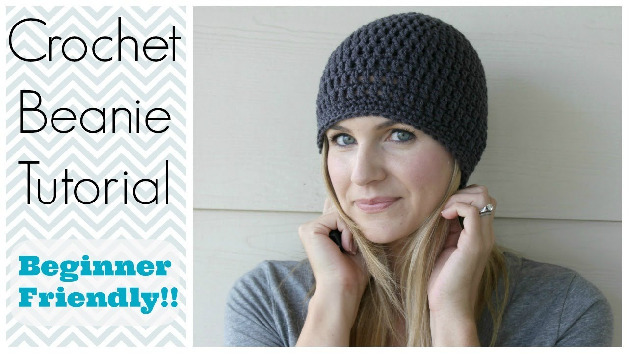 Youtube Crocheting For Beginners : How to Crochet a Beanie Tutorial - Beginner Friendly - YouTube