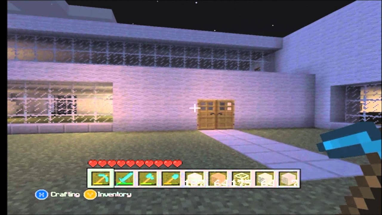 Minecraft xbox 360 edition let 39 s build modern house for Modern house minecraft xbox 360 edition