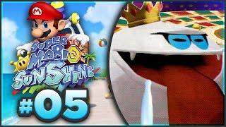 Super Mario Sunshine 100% Walkthrough | ALL Sirena Beach Shine Sprites! [Episode 5 🔴LIVE]
