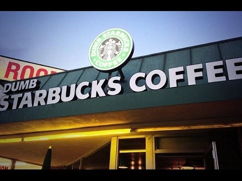 Dumb Starbucks Coffee Shop Opens in Los Angeles Neighborhood - Legal Under PARODY LAW???