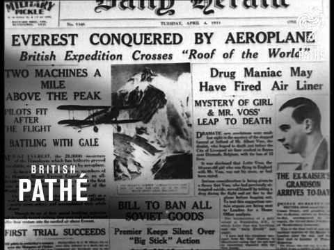 Newspaper Headlines (1933)