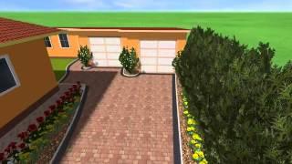 3D prezentácia cesty do garáže - KRÁLOVSKÁ