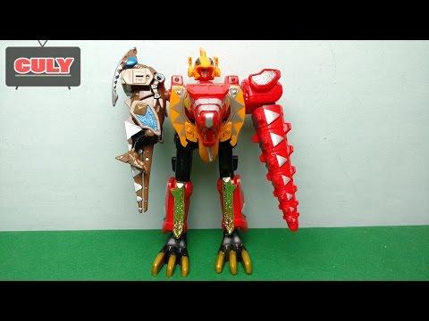 bóc đồ choi Siêu nhân dino khủng long sấm sét - power rangers dino thunder megazord toy for kid