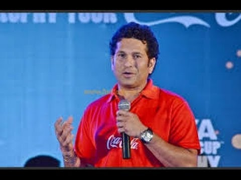 Sachin Tendulkar welcome FIFA World Cup trophy