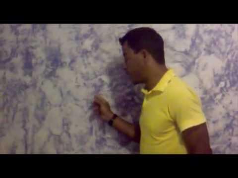 Pintura de parede com efeito youtube for Pintura decorativa efeito marmore