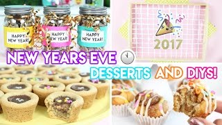 New Year's Eve Desserts and DIYs - Mini Cinnamon Buns, Cookies, Puppy Chow, and More!