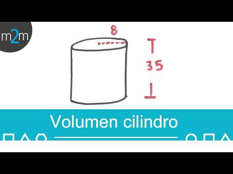 Ejercicio para obtener el volumen de un cilindro