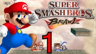 Super Smash Bros. Brawl Walkthrough Part 1 Skyworld [100%