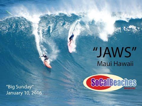 ''Jaws'' Maui Big Wave Surf Break Maui Hawaii - ''Big Sunday''