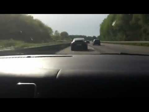 Porsche Panamera vs. Golf 4 R36 both with 3.6 vr6 engine on german highway