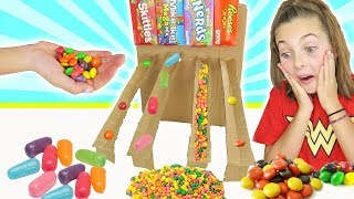 How To Build DIY Cardboard Candy Dispenser Vending Machine | Kids Crafts