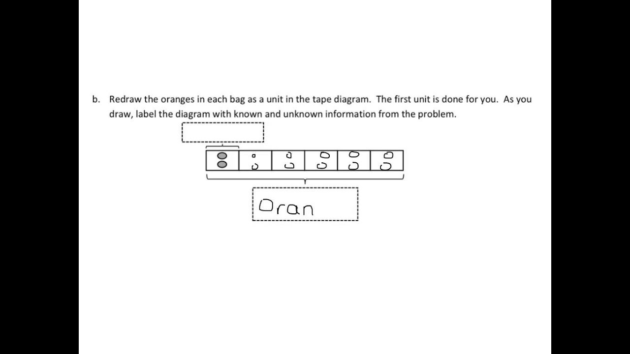 Tape Diagrams And Arrays