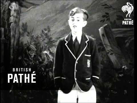 Pathe Pictorial Presents - The South African Boy Soprano Graham Payn In