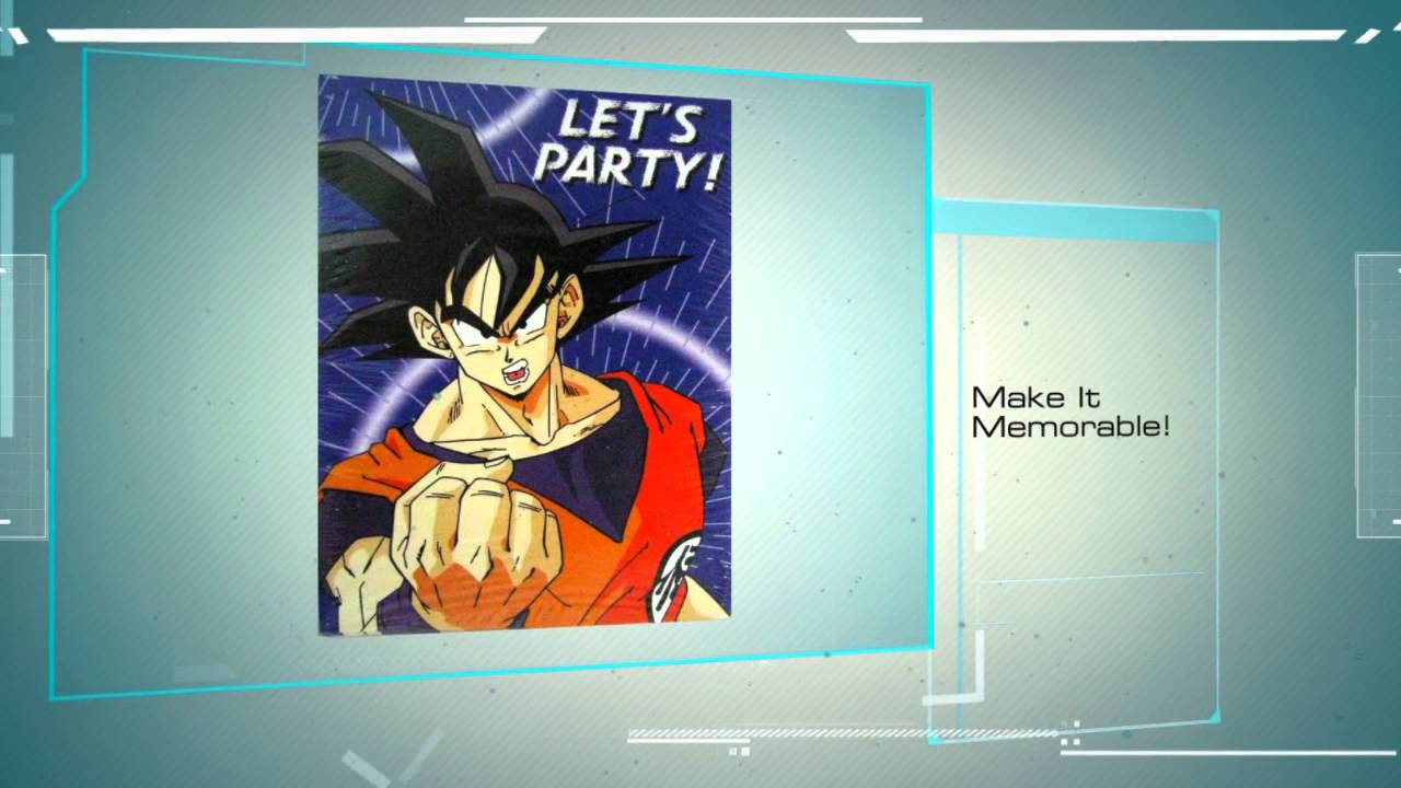 Dragon ball z birthday party supplies youtube for Dragon ball z decorations