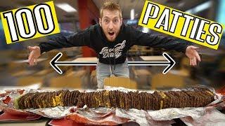We Ordered a 100 SLICE Hamburger!