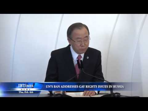 UN's Ban Addresses Gay Rights Issues in Russia