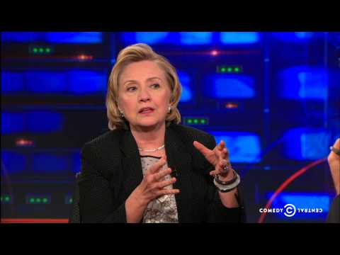 The Daily Show Exclusive - Hillary Clinton Extended Interview - Pt. 4