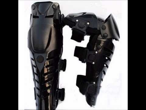 Pair of Leather Motor Racing Protective Knee Pads Black 2013 Leg Rugged Gear Pro ebay