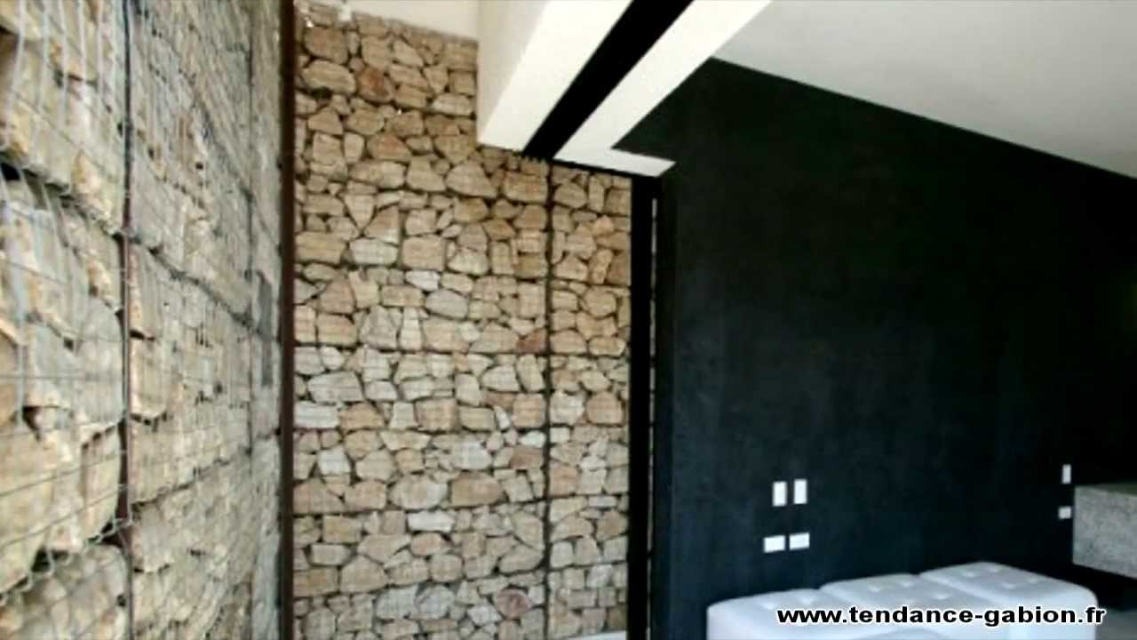 exemples de r alisations en gabion gabion wall gabionen tendance gabion youtube. Black Bedroom Furniture Sets. Home Design Ideas
