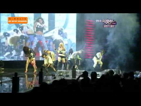 [HD] 100625 - f(x)+4minute+T-ara+KARA -Chitty Chitty Bang Bang- Live @ Music Bank