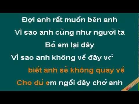 Gio O Dau Em Cung Thay Anh Karaoke - Minh Hằng - CaoCuongPro