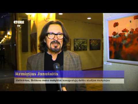 ETERIS TV 2013.12.03 Atidaryta Birštono meno mokyklos suaugusiųjų dailės studijos darbų paroda
