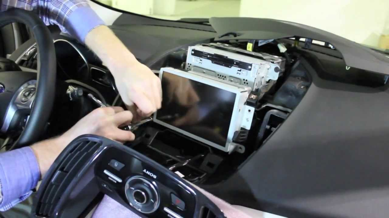 2013 Ford Fusion For Sale >> 2013 Ford Escape MyFord Touch Screen Removal - YouTube