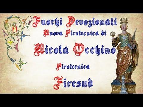 ACICATENA (Ct) - Santa Lucia 2017 - Nicola OCCHINO e FIRESUD (Fuochi Devozionali - 1° Postazione)
