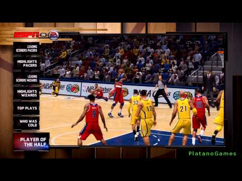 NBA Live 14 Playoffs - Washington Wizards vs Indiana Pacers - Game 1 - Halftime Highlights Show - HD