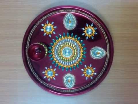 Diwali diyas decorating ideas ehow how to discover best for Aarti thali decoration with clay